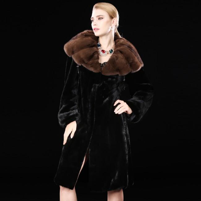 Whole Mink Fur Coats Black Full Length